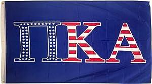 Pi Kappa Alpha Pike USA Pattern Letter Fraternity Flag 3 feet x 5 feet Banner Sign Decor (Flag - USA)