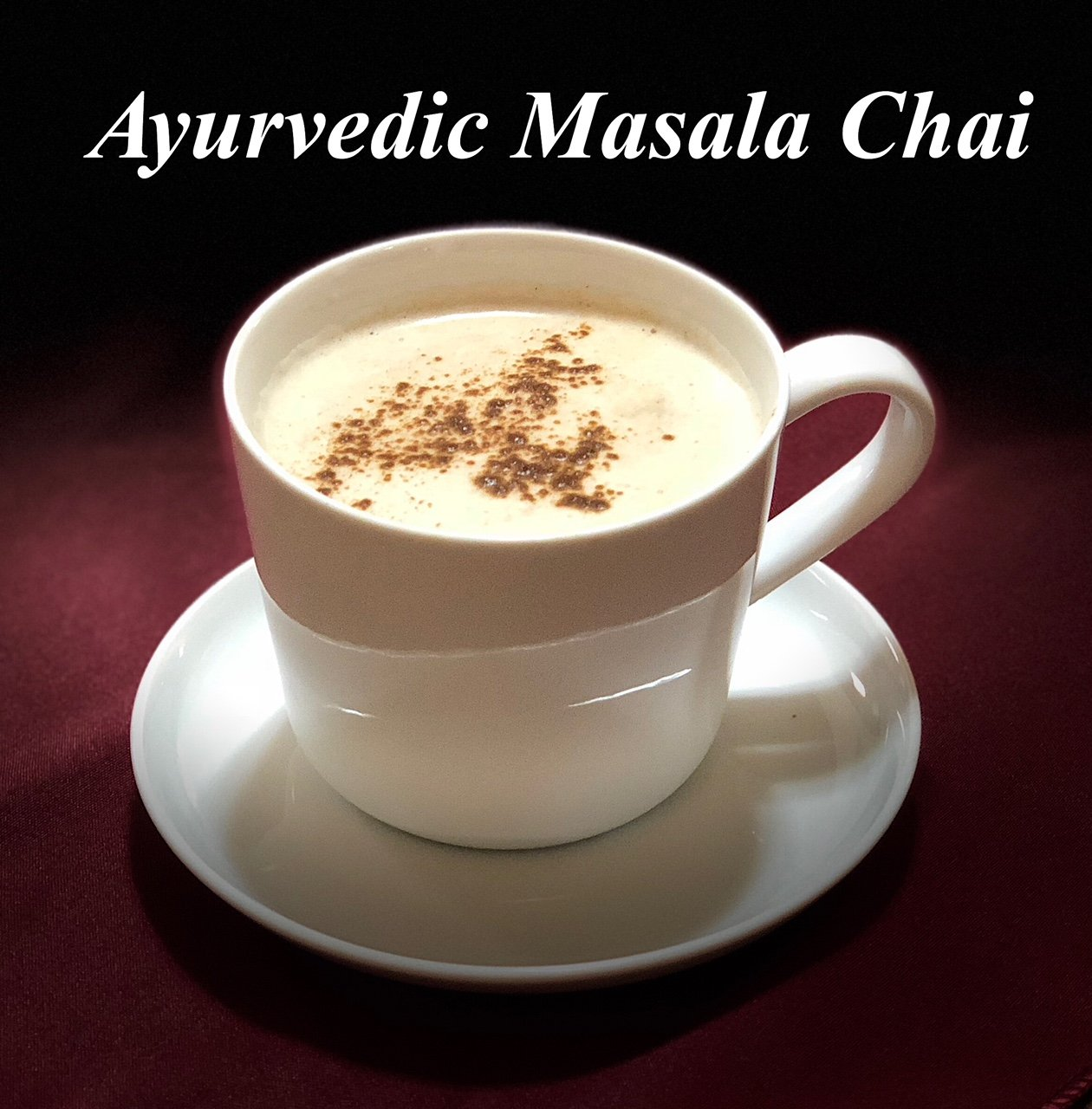 Ayurvedic Organic Masala Chai powder; No added sugar or sweetener; 4oz (100 Servings) - Caffeine free - Made with Ceylon (true) Cinnamon - Great for Vegan Lattes and Smoothies