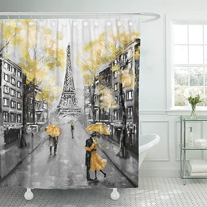 Details about  /Colorful Graffiti Oil Painting World Map Waterproof Polyester Shower Curtain Set