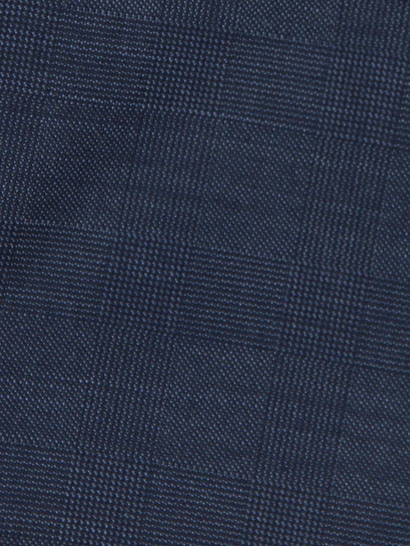 emilio adani Herren leichte Anzughose im dezenten Karo Blau 29027