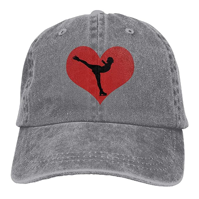 Skate with Heart Unisex Adult Cowboy Hat Sun Hat Adjustable Baseball Cap
