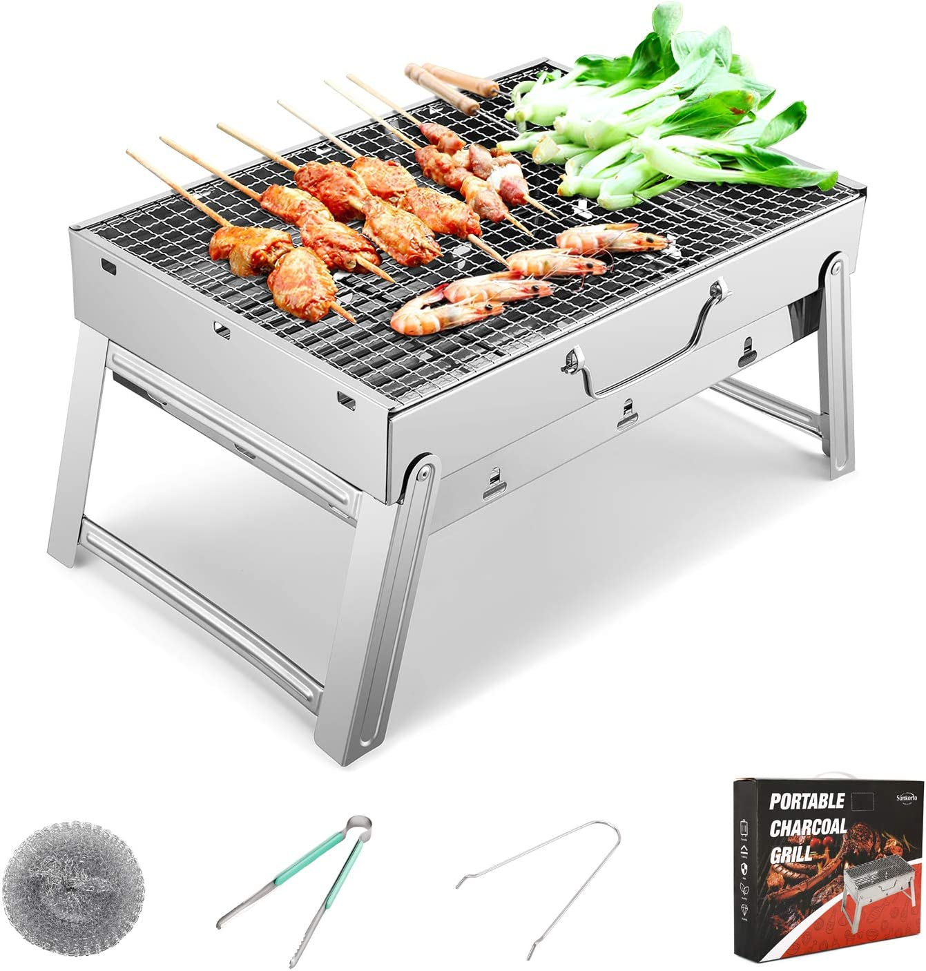 Sunkorto Portable Steel Charcoal Grill