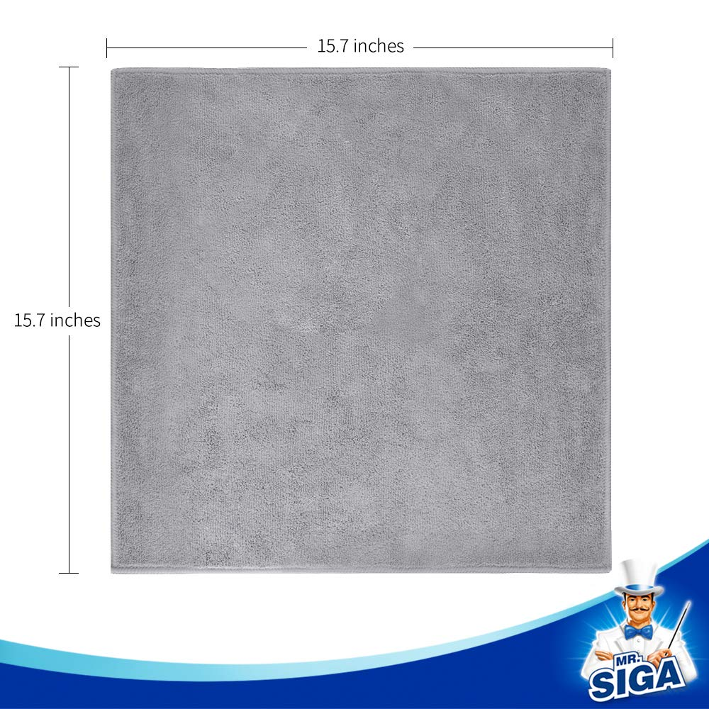 MR. SIGA Microfiber Cleaning Cloth, Pack of 12, Size: 15.7'' x 15.7'' by MR.SIGA (Image #7)