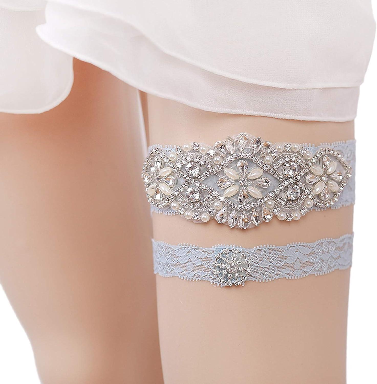 Weddings Bride to be| Something Blue Engagements| Bridal Gift Baby Blue OR White Bridal Wedding Lace garter garters set- keepsake toss