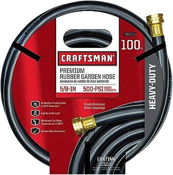 Craftsman Premium 100FT Rubber Lightweight Garden Hose