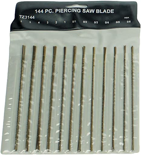 Set of scroll saw blades for PRECISION WORKS 6 types 36 pcs Made in Germany