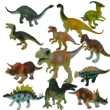 Yeelan Figuras Juguete del dinosaurio / Estatuas fijada para los ...