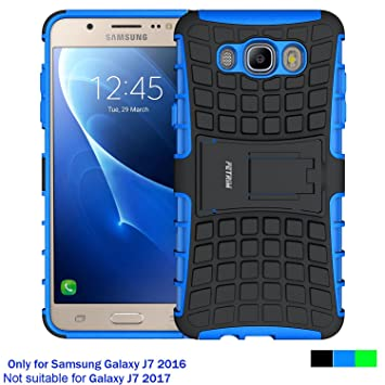 Fetrim Funda Galaxy J7 2016, Soporte Cáscara Cases Delgada de Golpes Doble Capa de Tough TPU plastico Anti Arañazos de Protectora para Samsung Galaxy ...