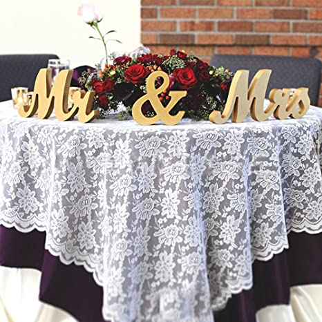 Amazon.com: clearumm Mr y Mrs boda mesa cartel de madera ...