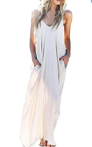 ZEARO donna sexy vestito lungo elegante bianco festa cerimonia abito da sera spiaggia