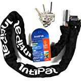 IntiPal バイクチェーンロック かぎチェーン チェーンロック バイク ロック 自転車バイク盗難防止 ワイヤーロック 24×1200mm 日本語説明書付き 1KG重量感