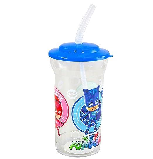 Sports Water Bottles PJ Masks Catboy, Owlette Gekko 16oz Drink Cup Attached Lid