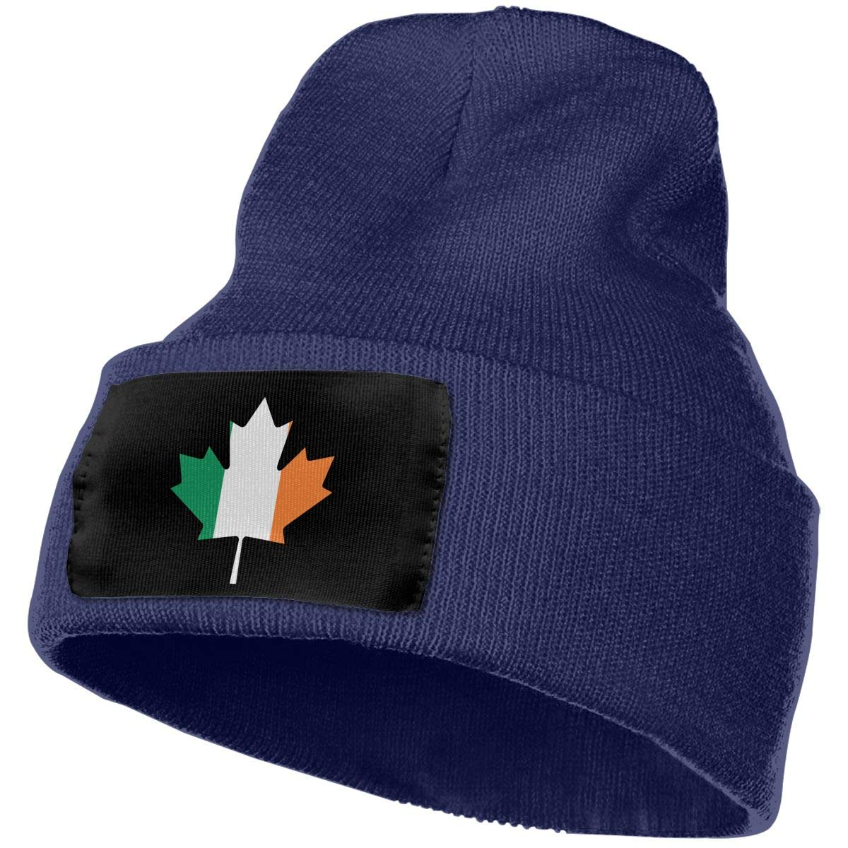 Unisex Canadian Irish Flag Maple Leaf Outdoor Fashion Knit Beanies Hat Soft Winter Skull Caps