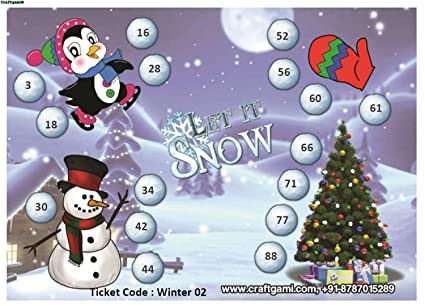 Craftgami - Winter Theme (2) Tambola Tickets - Housie Tickets (24 Tickets)