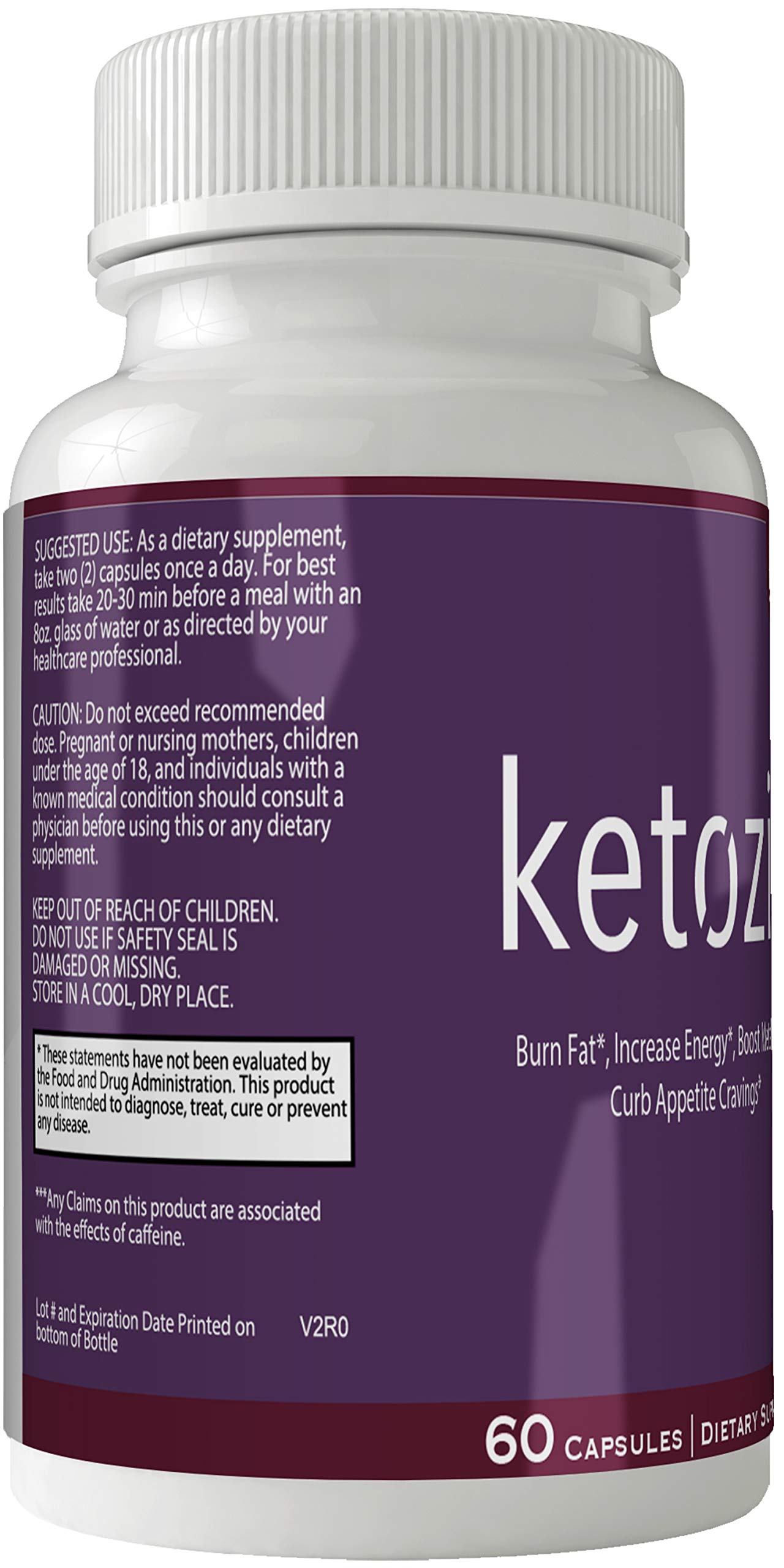Ketozin Weight Loss Pills Advance Weight Loss Supplement Appetite Suppressant Natural Ketogenic 800 mg Formula with BHB Salts Ketone Diet Capsules to Boost Metabolism, Energy and Focus by nutra4health LLC (Image #2)