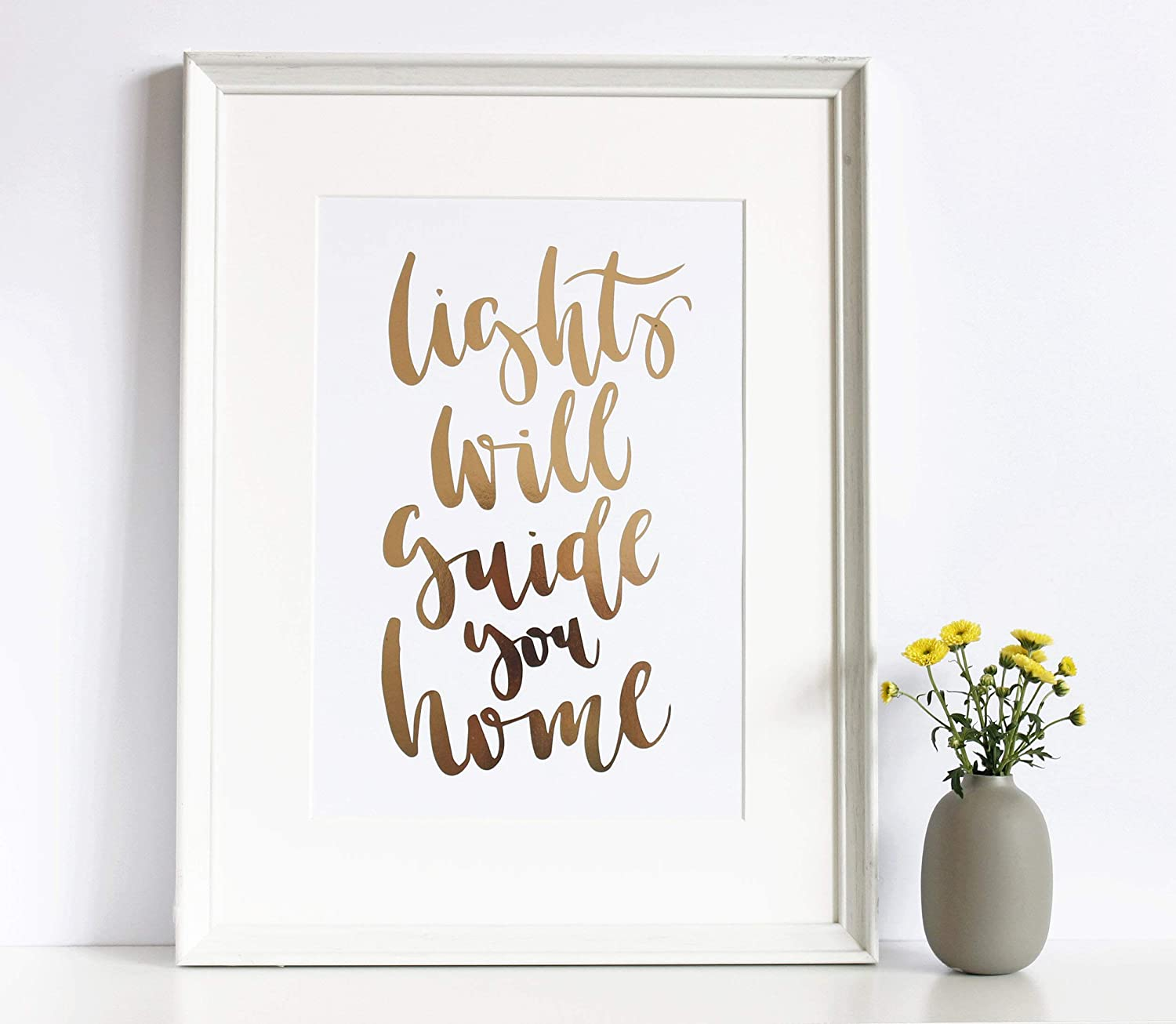 Copper quotes //// happiness //// inspirational //// foil prints //// beautiful //// art