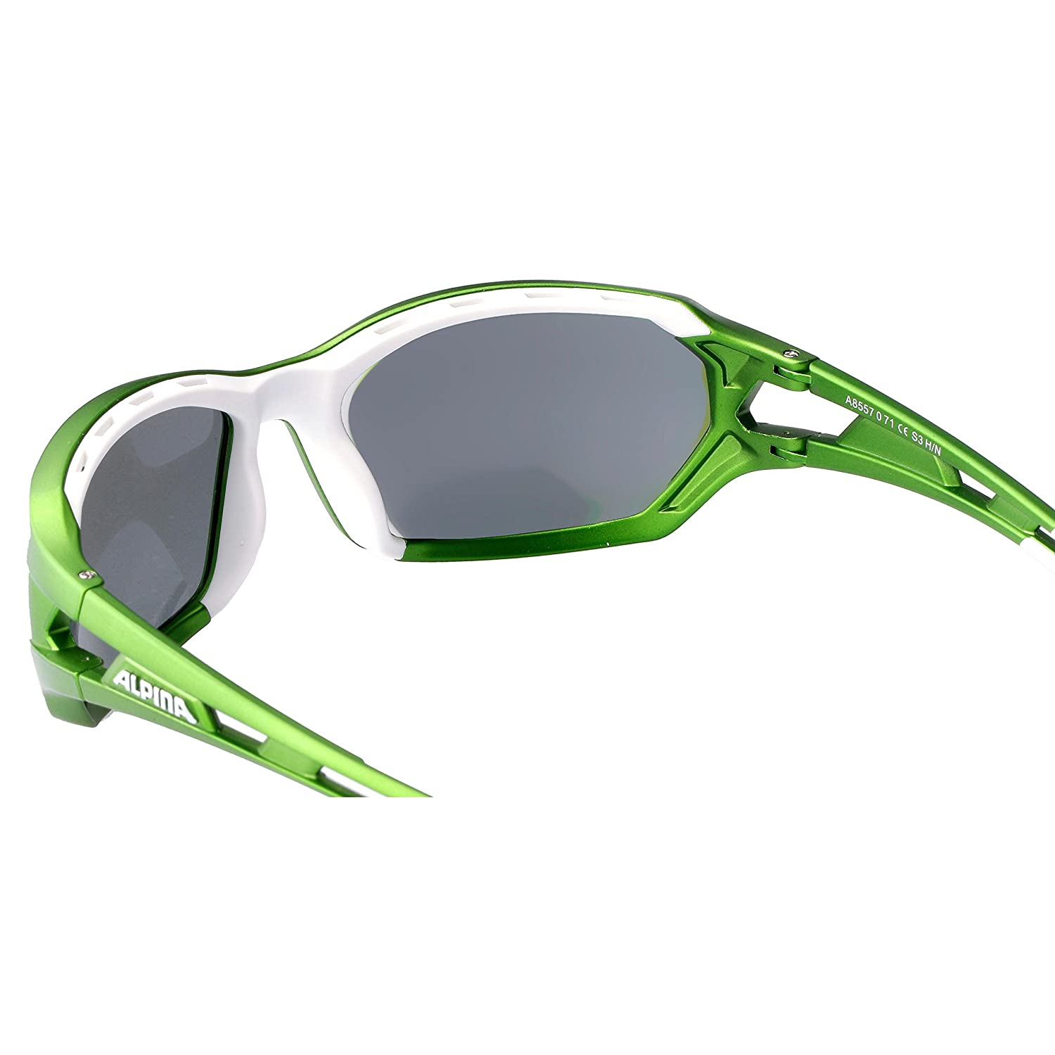f3aa2198f3 ALPINA Grap Adult Berryn cm + Cycle Cycling Glasses Goggles - Green White  One Size  Amazon.co.uk  Sports   Outdoors