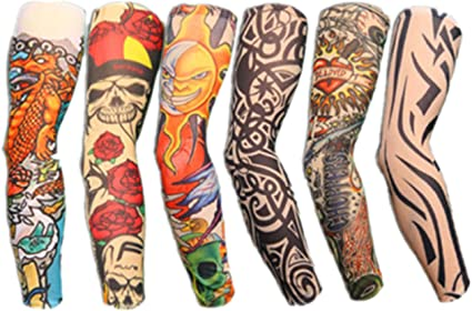 Autek tatuaje brazo Tatoo-Mallas planos (Tattoo-6pc)-J: Amazon.es ...