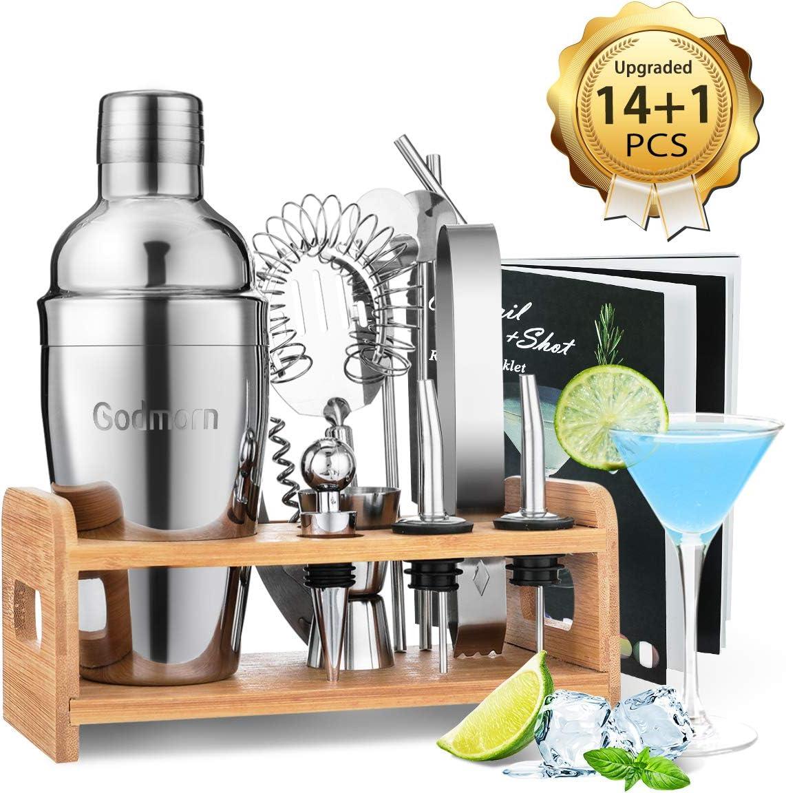 6 teiliges Edelstahl Cocktail Shaker Bar Set Zubehör Cocktailset Mixer 0,5l NEU