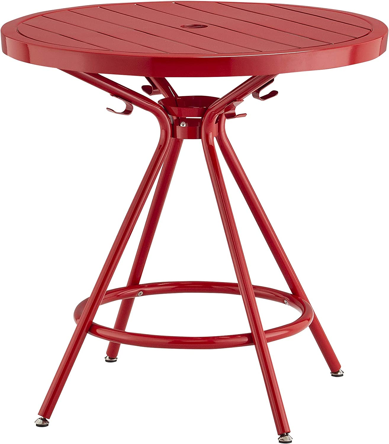 """Safco Products CoGo Steel Indoor/Outdoor Table, 30"""" Round, Red"""
