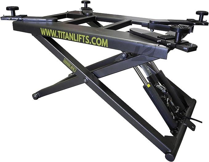 """51/"""" High Mid-Rise Scissor Lift w//Free Truck Adapters New Titan 6,600 lbs 110V"""