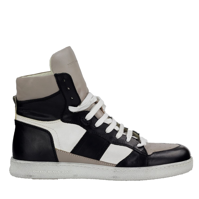 Diesel Black Gold High Top Sneaker General Loitnant Black Dove Leder I00430 P0865 H5570