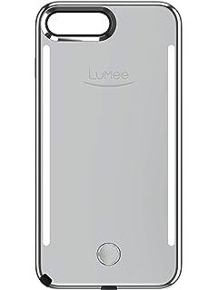 huge selection of 962c8 04972 Amazon.com: LuMee Duo Phone Case, Black Matte | Front & Back LED ...
