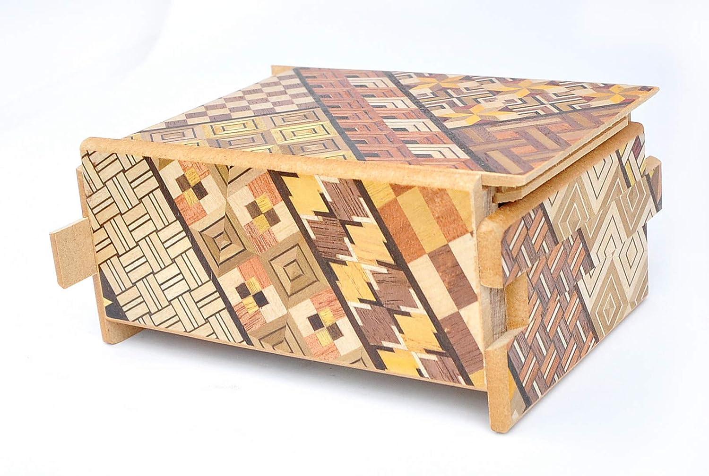 Cofre YOSEGI 12 etapas LOGICA GIOCHI Art La Caja Secreta Caja Japonesa Rompecabezas de Madera