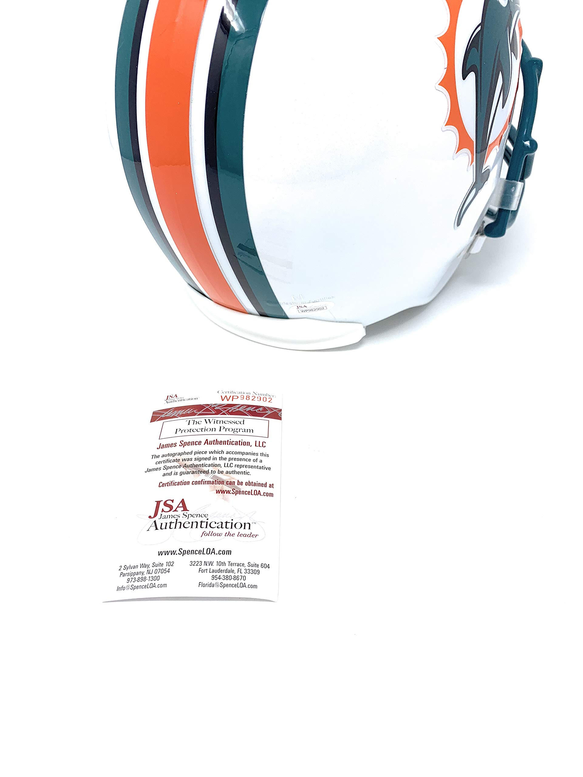 Dan Marino Miami Dolphins Signed Autograph Full Size Helmet JSA Witnessed Certified