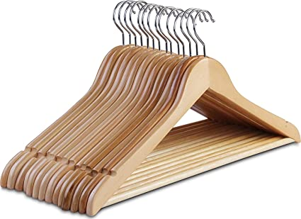 Amazoncom Clothes Hangers Wooden Hangers Ultra Thin Space Saving
