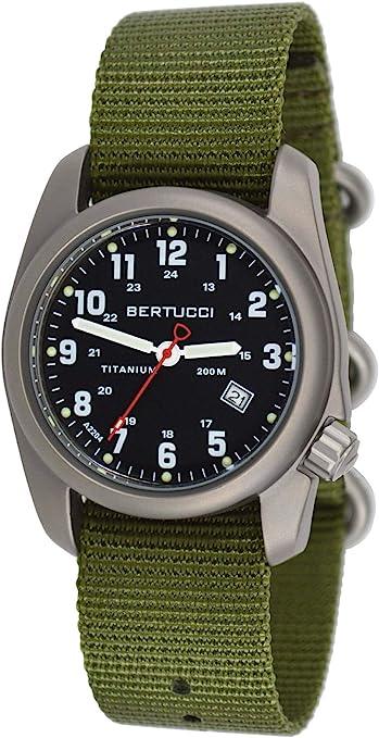Amazon.com: Bertucci Men's 12122 A-2T Original Classics Durable Titanium  Field Watch: Watches