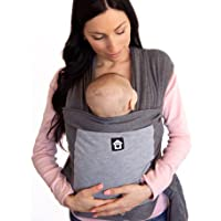 Baby Wrap Carrier with Front Pocket - Premium Cotton Baby Sling - One Size Fits All - Baby Carriers for Newborn, Infant…