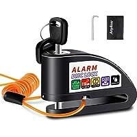Anykuu Candado Disco Moto con 1.5m Cable y Bolsa Cerradura Dispositivo antirrobo de Bloqueo de Disco con Alarma…
