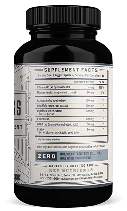Amazon.com: Anxiety & Stress Relief Supplement: DE-Stress Provides Adrenal Support, Relaxation & Anxiety Reduction Contains Magnesium, Ashwagandha, ...