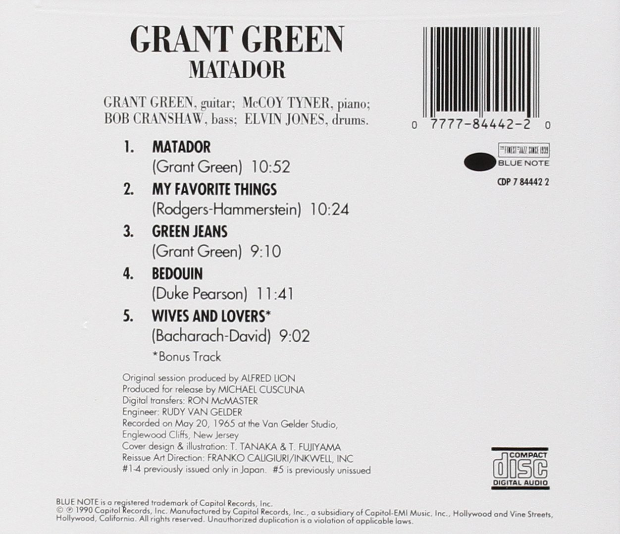Grant Green The Matador Amazon Music