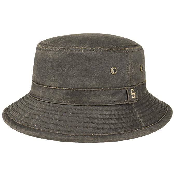 92cb884bd23382 Stetson Drasco Cloth Hat Men | Fishing Crushable Fisher´s with Piping,  Piping Summer-Winter: Amazon.co.uk: Clothing