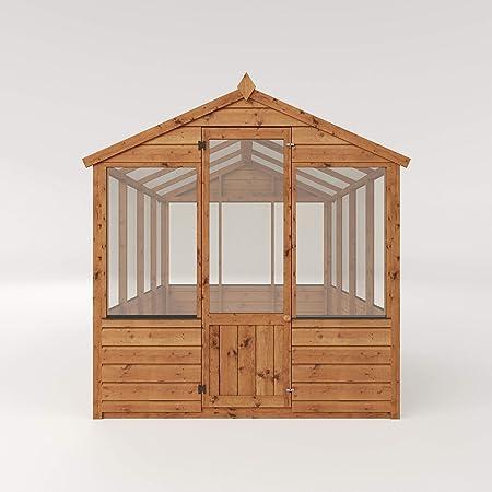 Cobertizo de madera Evesham de 1,2 m x 2 m de efecto invernadero ...