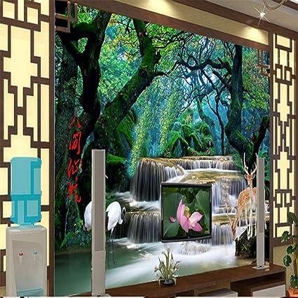 Forest Wonderland Waterfall Wallpaper Huge Wall Print Decal Full Wall Mural Home