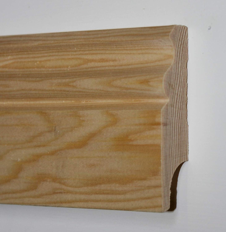 Leiste a 2400mm TOTAL 7,2 Meter Sockelleiste natur unbehandelt Hamburger Profil klassisch Kiefer 18x70mm Fu/ßleiste Bodenleiste KIE.1870-ROH-S3-2400 3x Stck 3er PACK