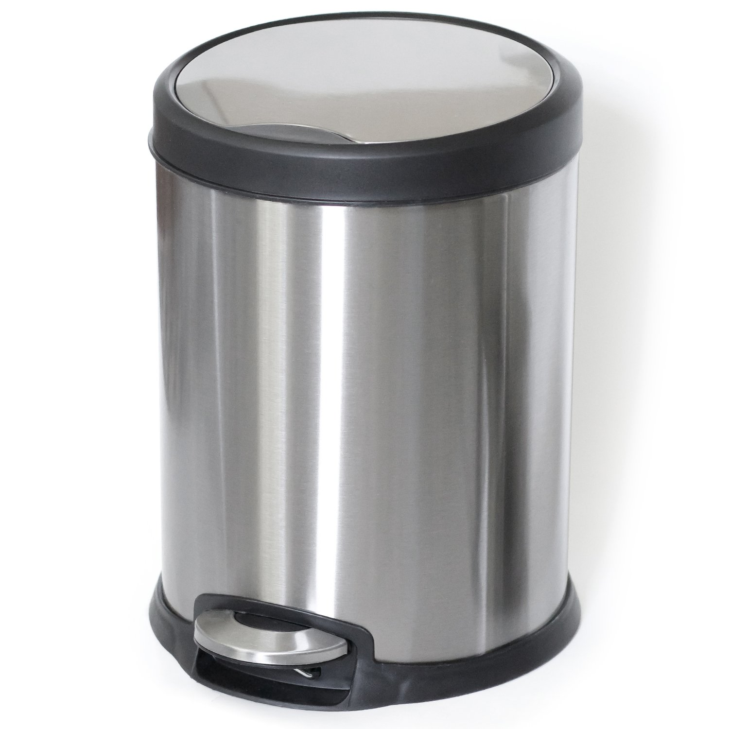 ToiletTree Products Stainless Steel Trash Can, 5 Liter