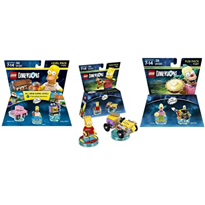 The Simpsons Homer Level Pack + Bart Fun Pack + Krusty Fun Pack - Lego Dimensions: Video Games