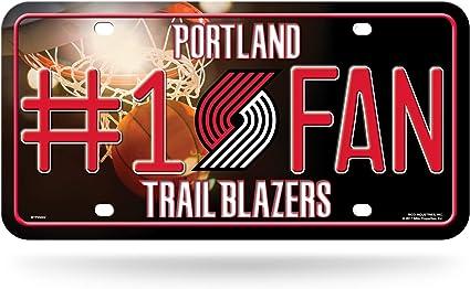 Nba Rico Industries 1 Fan Metall Nummernschild Anhänger Portland Trail Blazers Sport Freizeit