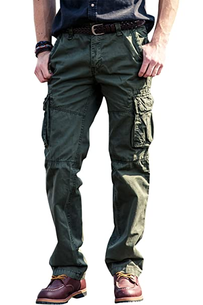 21da3781c6d INFLATION Men's Cargo Pants Work Trousers Combat Pants Confortable Cargo  Pants Various Sizes & Colors Army