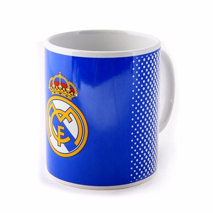 Real Madrid CF - Taza oficial con escudo del equipo (Talla Única/Azul)