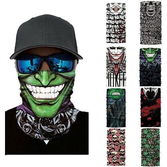 Amazon.com: Glumes Face Mask Half Sun Dust Protection|Vivid ...