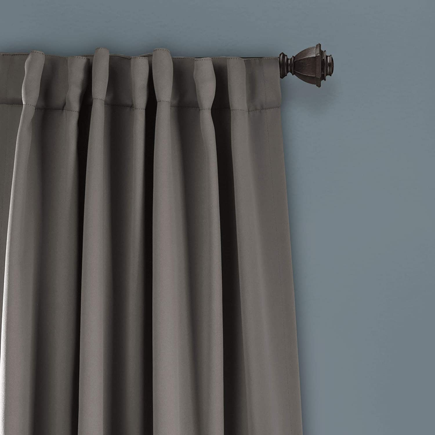63 L x 52 W Lush Decor Insulated Back Tab Blackout Window Curtain Panel Pair Pink