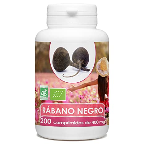 Rábano Negro Orgánico - 400mg - 200 comprimidos