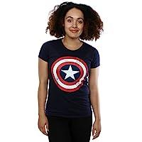 Captain america Distressed Logo Women's T-Shirt