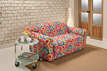 Amazon Com Madison Stretch Jersey Tie Dye Loveseat Slipcover