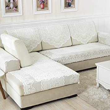 Sofa Slipcovers,Sofa Covers,Protector Furniture Four Seasons Padded Sofa  Towel/Lace Fabric